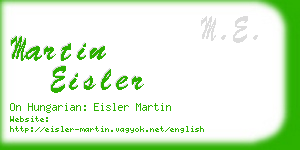 martin eisler business card